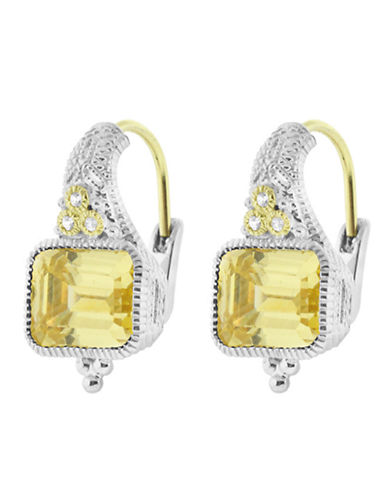 Judith Ripka Estate Cushion Earring on wire-CRYSTAL-One Size