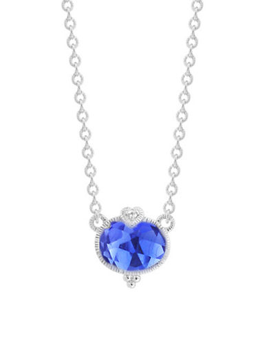Judith Ripka La Petite Oval Stone Necklace-CORUNDUM-One Size