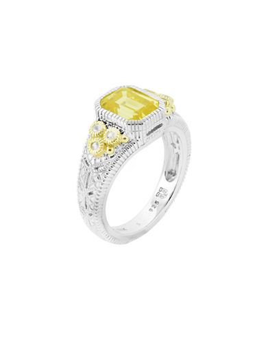 Judith Ripka Estate Cushion Ring-CRYSTAL-6