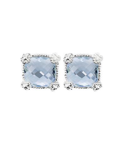 Judith Ripka La Petite Cushion Stone Stud Earring-QUARTZ-One Size