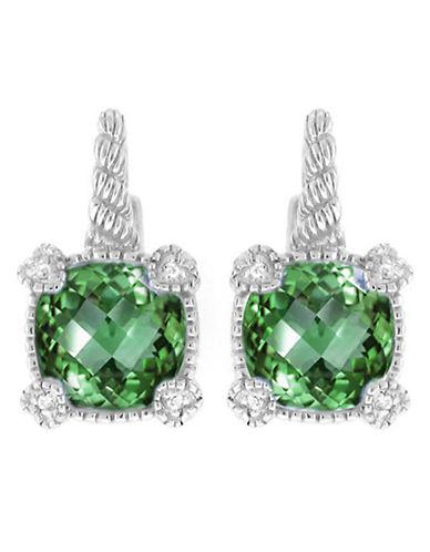 Judith Ripka La Petite Cushion Stone earring on wire-QUARTZ-One Size