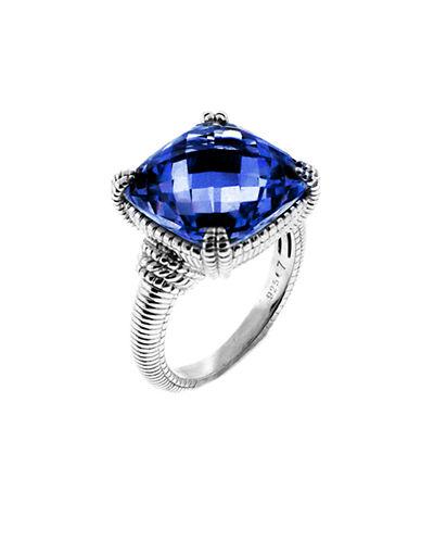 Judith Ripka La Petite Cushion Stone Ring-CORUNDUM-6
