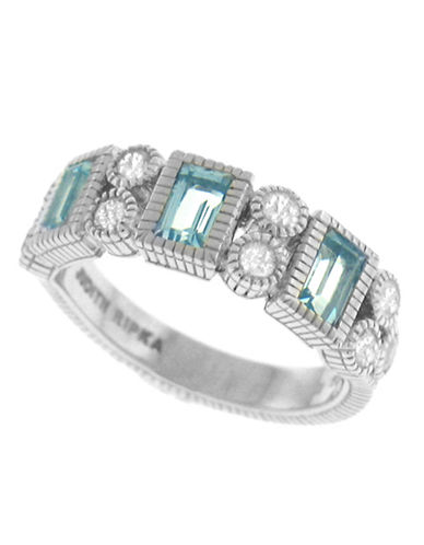 Judith Ripka Estate Vertical Baguette Band-TOPAZ-6