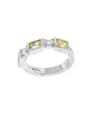 Judith Ripka Narrow Estate Baguette Band-CRYSTAL-7
