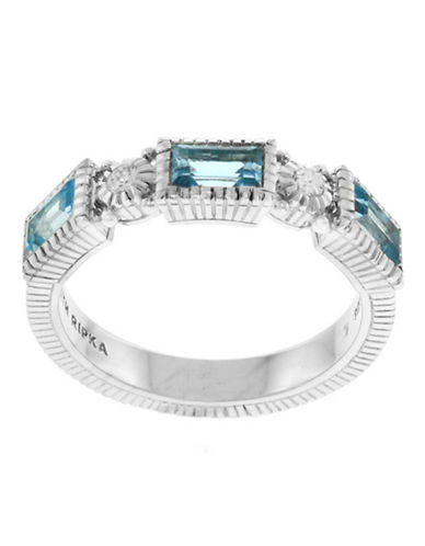 Judith Ripka Estate Narrow Baguette Band-TOPAZ-6
