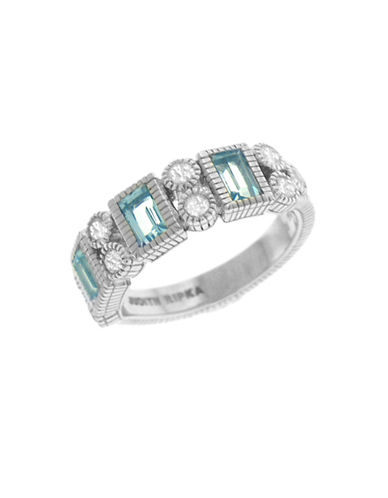 Judith Ripka Estate Vertical Baguette Band-CRYSTAL-6