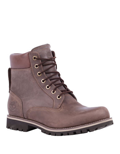 Timberland Rugged Waterproof Leather Boots-COPPER-8