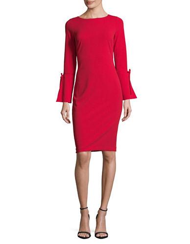 Calvin Klein Bell Sleeve Sheath Dress-RED-12