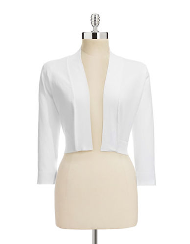 Calvin Klein Cropped Shrug-WHITE-Large