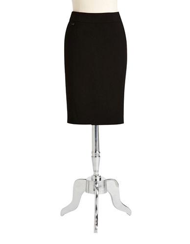 Calvin Klein Pencil Skirt-BLACK-10