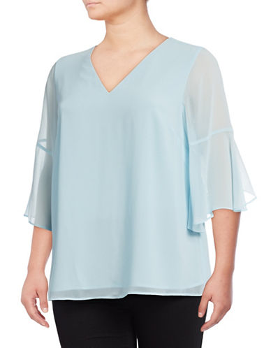 Calvin Klein Plus Bell Sleeve Top-COOL-0X
