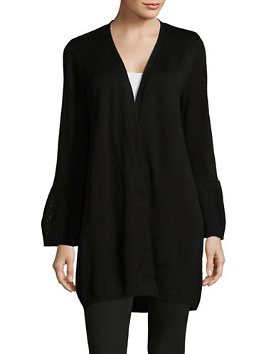 Calvin Klein Long Bell Sleeve Cardigan-BLACK-Large