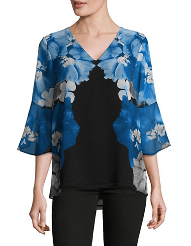 Calvin Klein Bell Sleeve Top-BLACK MULTI-X-Small