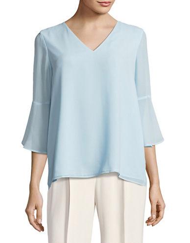 Calvin Klein Bell Sleeve Top-BLUE-Medium