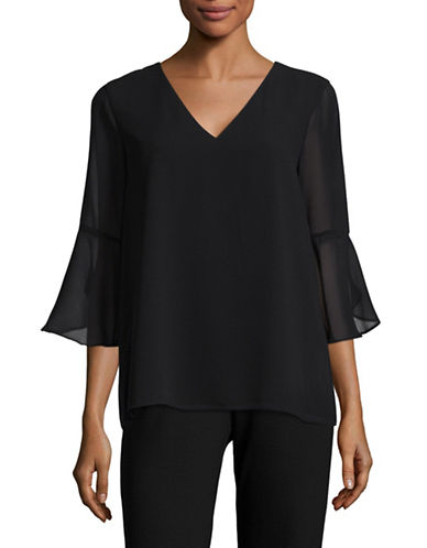 Calvin Klein Bell Sleeve Top-BLACK-Small