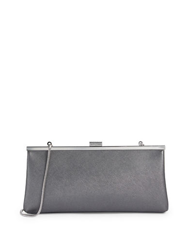 Calvin Klein Metallic Clutch-SILVER-One Size