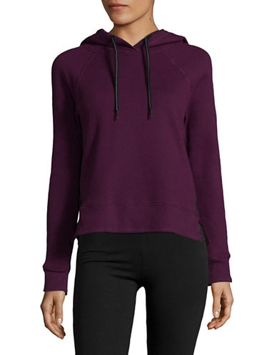 Calvin Klein Performance Logo Hoodie with Grosgrain Trim-MERLOT-Small