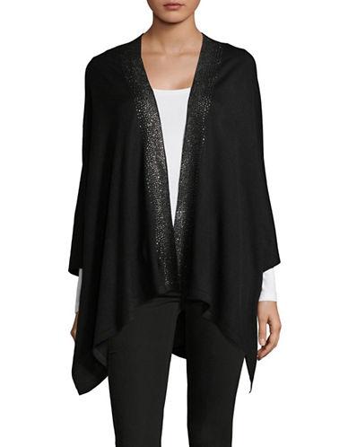 Calvin Klein Embellished Ruana-BLACK-One Size