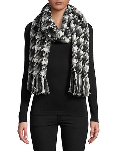 Calvin Klein Fringe Blanket Scarf-GREY-One Size