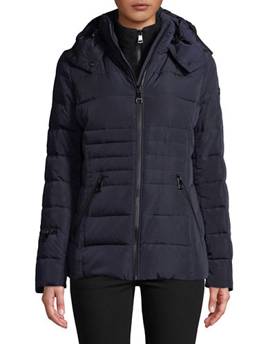 Calvin Klein Hooded Down Jacket-NAVY-Small