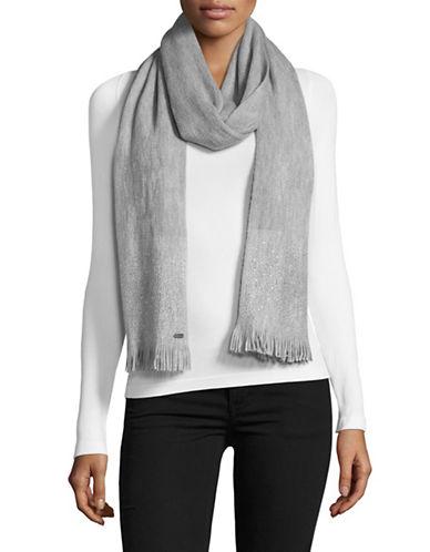 Calvin Klein Crystal Stud Scarf-GREY-One Size