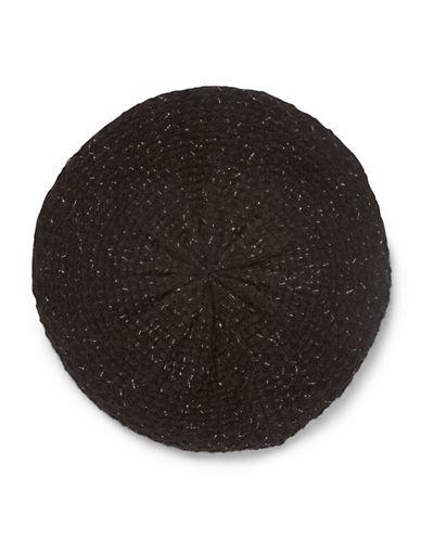 Calvin Klein Lurex Texture Beret-BLACK-One Size