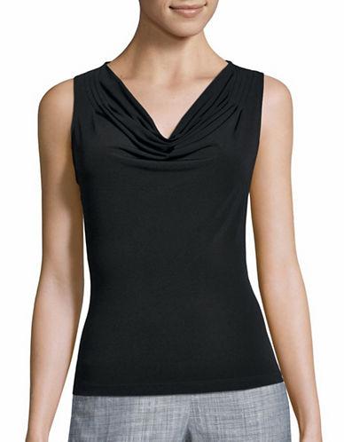 Calvin Klein Cowl Neck Shell-BLACK-X-Small 86066458_BLACK_X-Small
