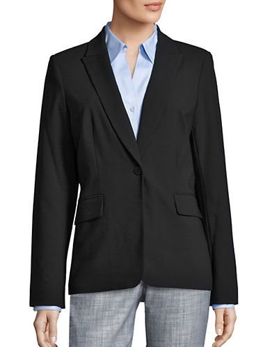 Calvin Klein One Button Blazer-BLACK-10