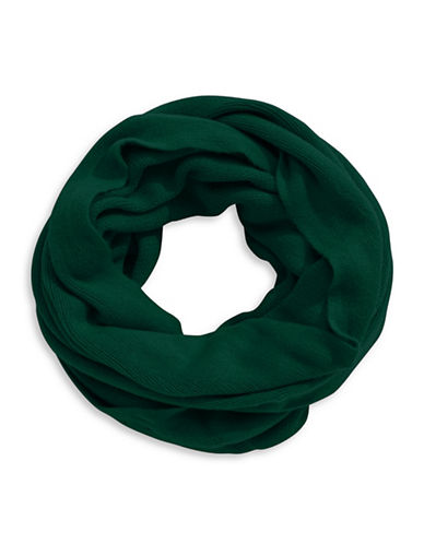 Calvin Klein Infinity Loop Scarf-GREEN-One Size