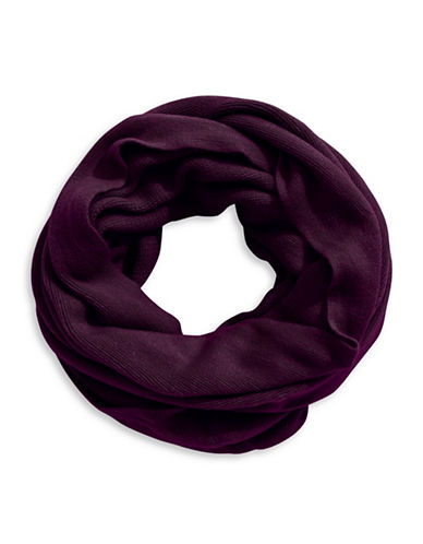 Calvin Klein Oversized Infinity Scarf-AUBERGINE-One Size