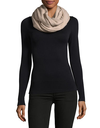 Calvin Klein Oversized Infinity Scarf-ALMOND-One Size