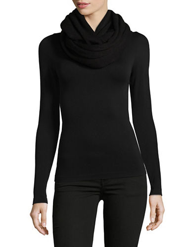 Calvin Klein Oversized Infinity Scarf-BLACK-One Size