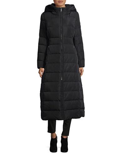 Calvin Klein Hooded Down Jacket-BLACK-Large