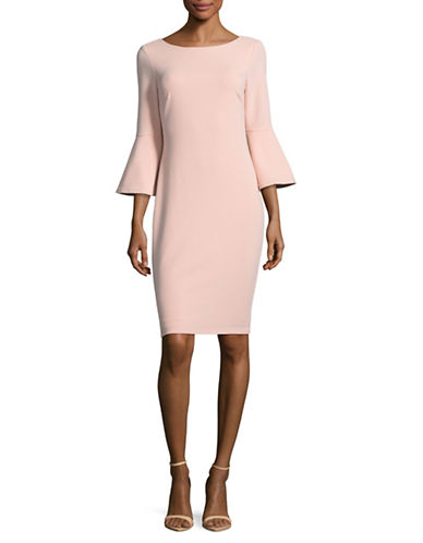 Calvin Klein Trumpet Sleeve Sheath Dress-BLUSH-12