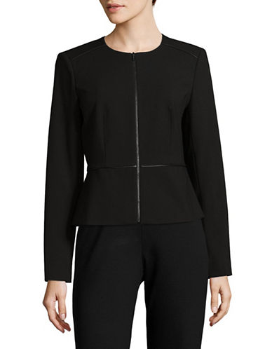 Calvin Klein Zip Front Jacket-BLACK-2