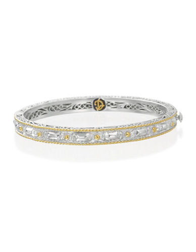 Delatori 18K Yellow Goldplated Sterling Silver Bangle-TWO TONE-One Size