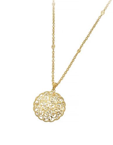 Delatori White Topaz Necklace-GOLD-One Size