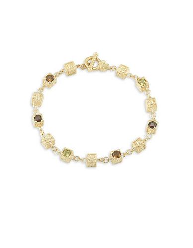 Delatori 18K Yellow Goldplated Citrine Garnet and Sterling Silver Bracelet-MULTI-One Size