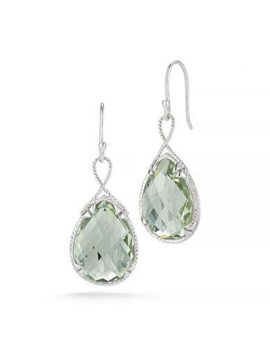 Delatori 28ct Green Amethyst Earrings-GREEN-One Size