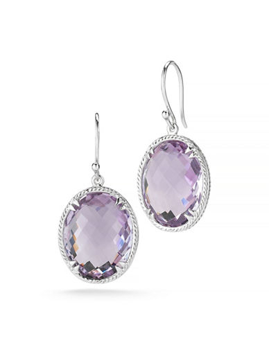 Delatori 34ct Pink Amethyst Earrings-PINK-One Size