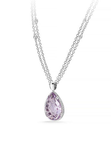 Delatori 38ct Pink Amethyst Necklace-PINK-One Size