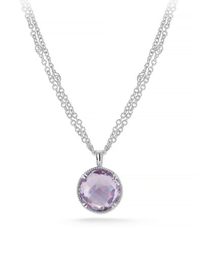 Delatori 34ct Pink Amethyst Necklace-PINK-One Size