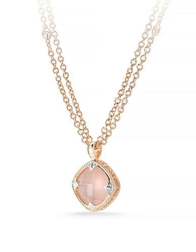 Delatori 23.5ct Rose Quartz Necklace-PINK-One Size