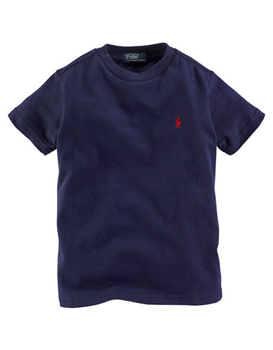 Ralph Lauren Childrenswear Crew Neck T Shirt-BLUE-2