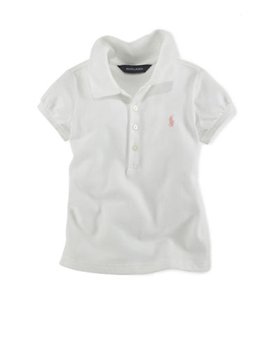 Ralph Lauren Childrenswear Basic Mesh Polo-WHITE-3