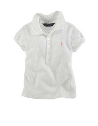 Ralph Lauren Childrenswear Basic Mesh Polo-WHITE-4