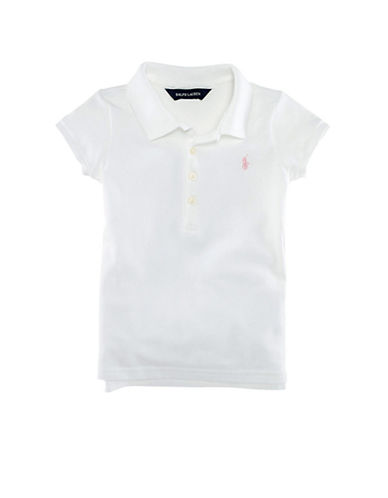 Ralph Lauren Childrenswear Short Sleeved Cotton Polo-WHITE-5