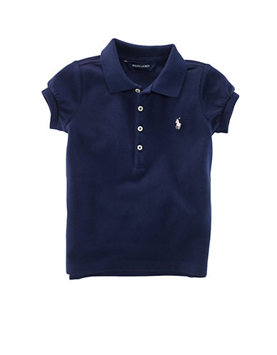 Ralph Lauren Childrenswear Short Sleeved Cotton Polo-FRENCH NAVY-6X