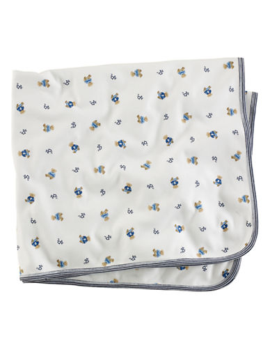 Ralph Lauren Childrenswear Versatile Receiving Blanket-BLUE-One Size