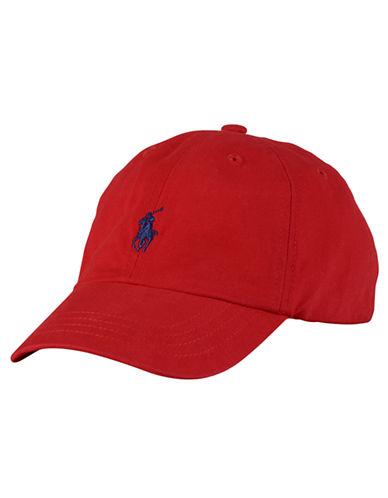 Ralph Lauren Childrenswear Embroidered Ventilating Cap-RED-One Size